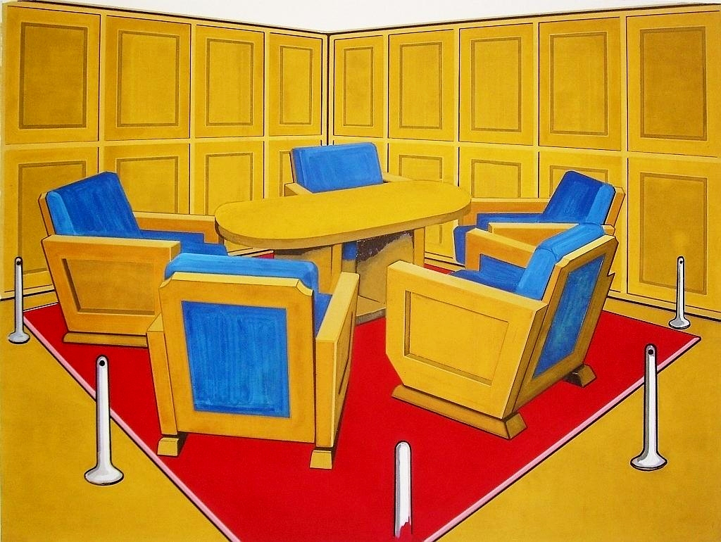 Conference (for Another Utopia), oil on canvas, 150 x 200 cm, 2010