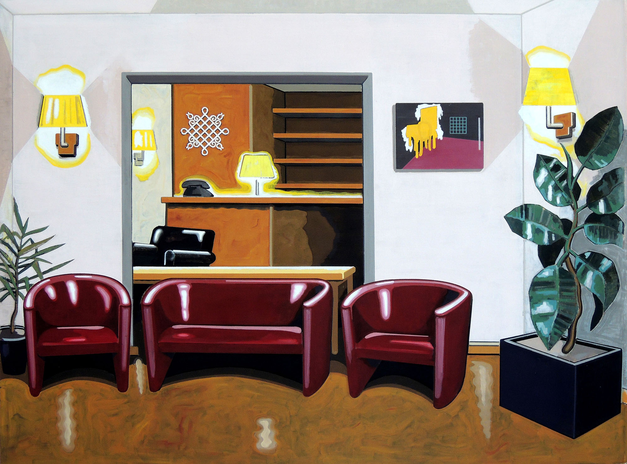 Hotel Europa, oil on canvas, 160 x 120 cm, 2013