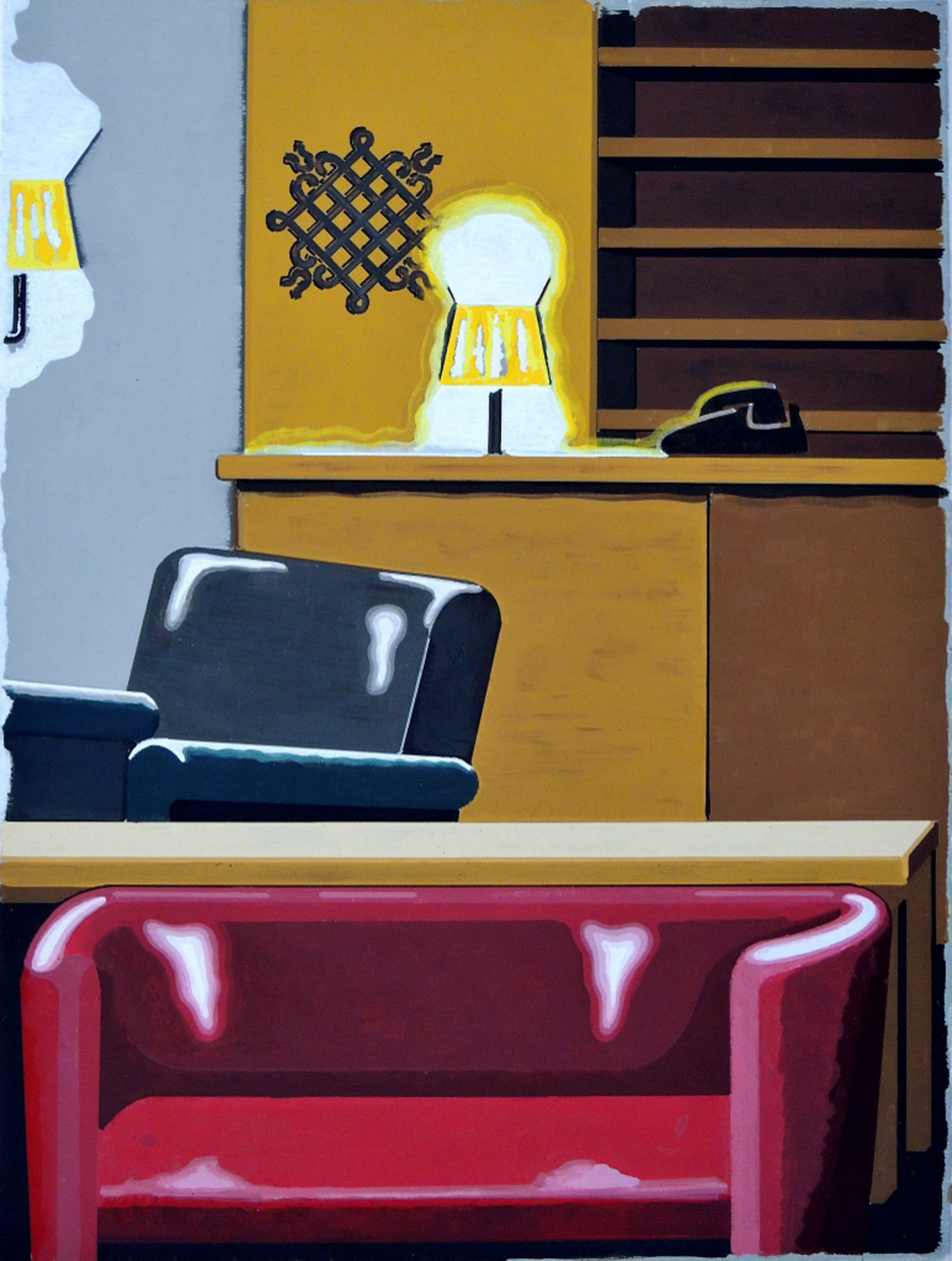 Lobby, oli on canvas, 70 x 50 cm, 2014