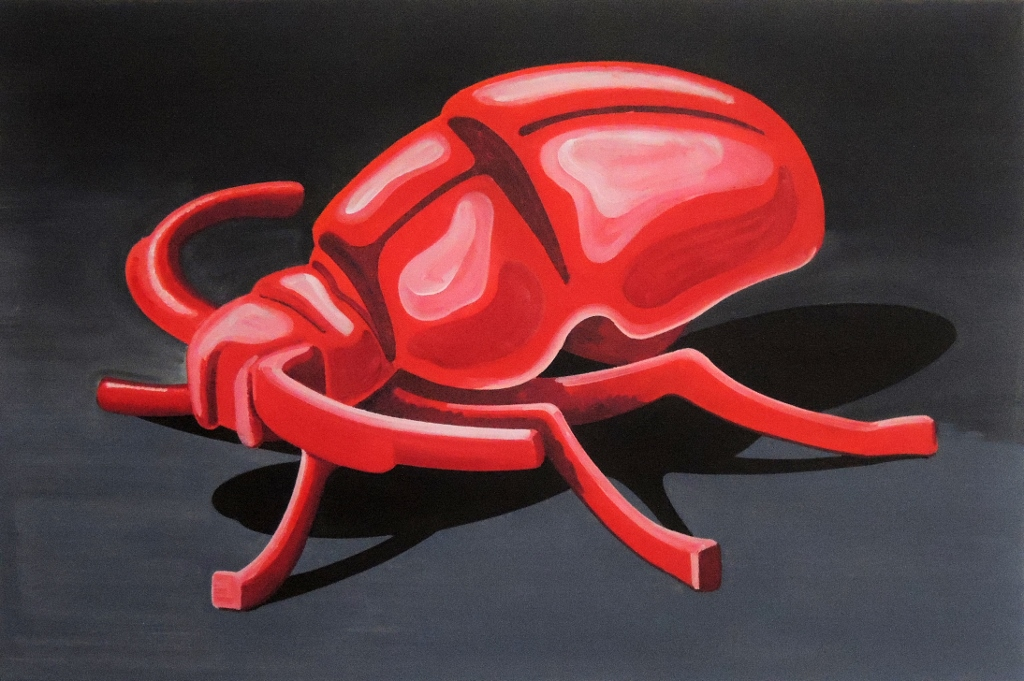 Red Bug, oil on canvas, 60 x 90 cm, 2019