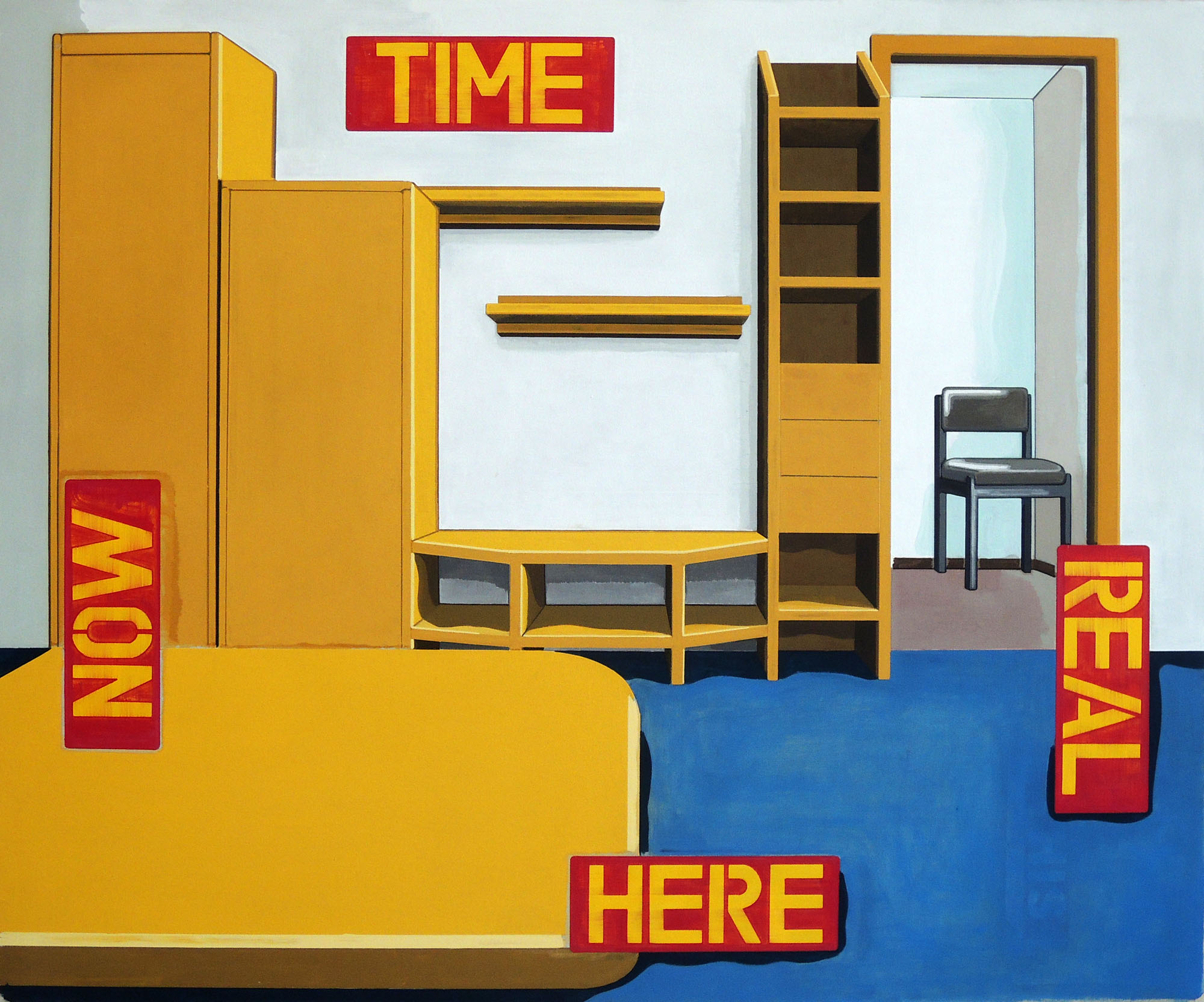 Situation Room, oil on canvas, 144 x 173 cm, 2015