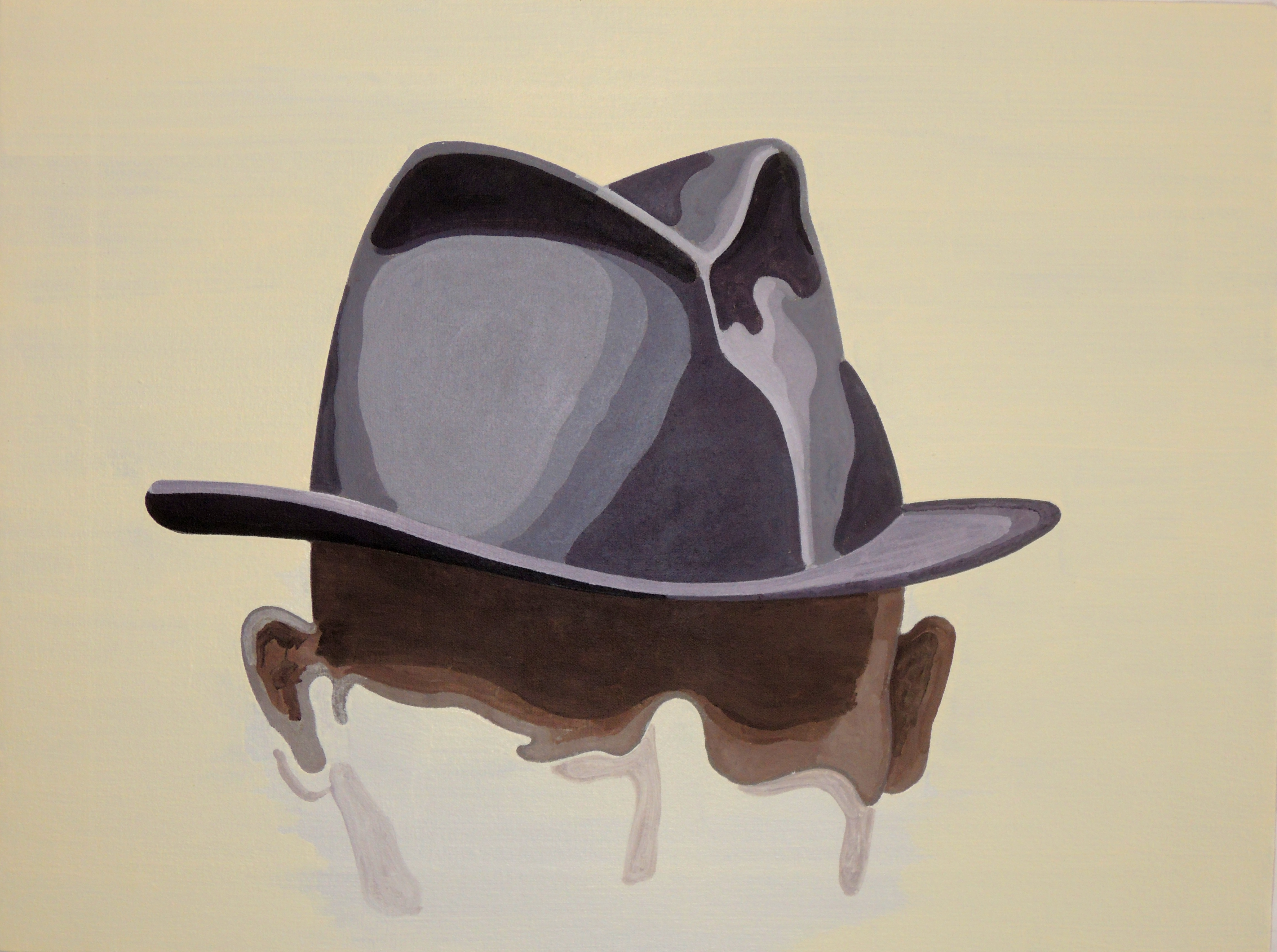 Kafka's Hat, oil on canvas, 45 x 60 cm, 2016