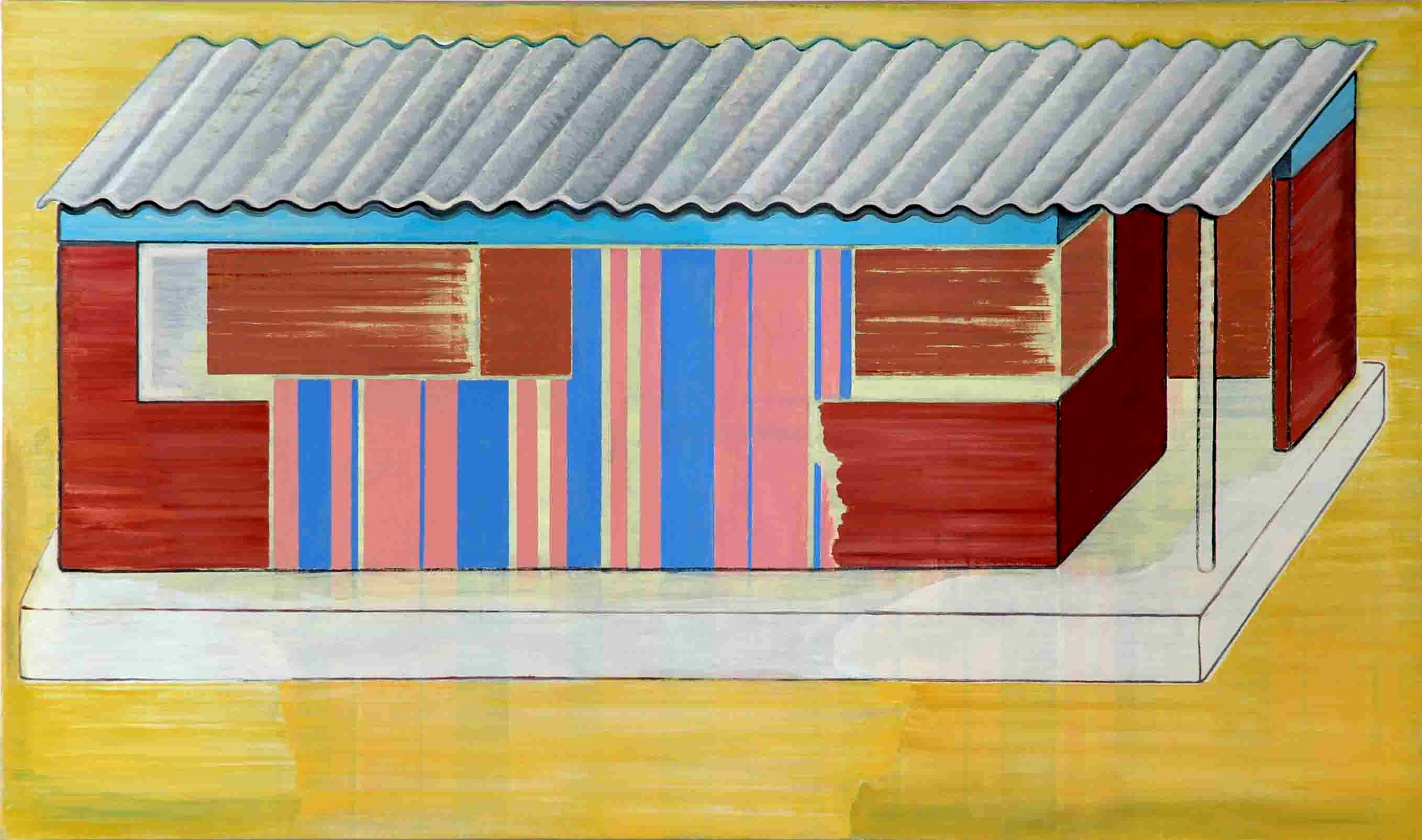 African House, oil on canvas, 140 x 220 cm, 2005