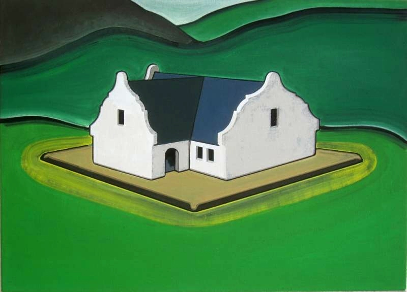 Cape Dutch, oil on canvas, 40 x 55 cm, 2009