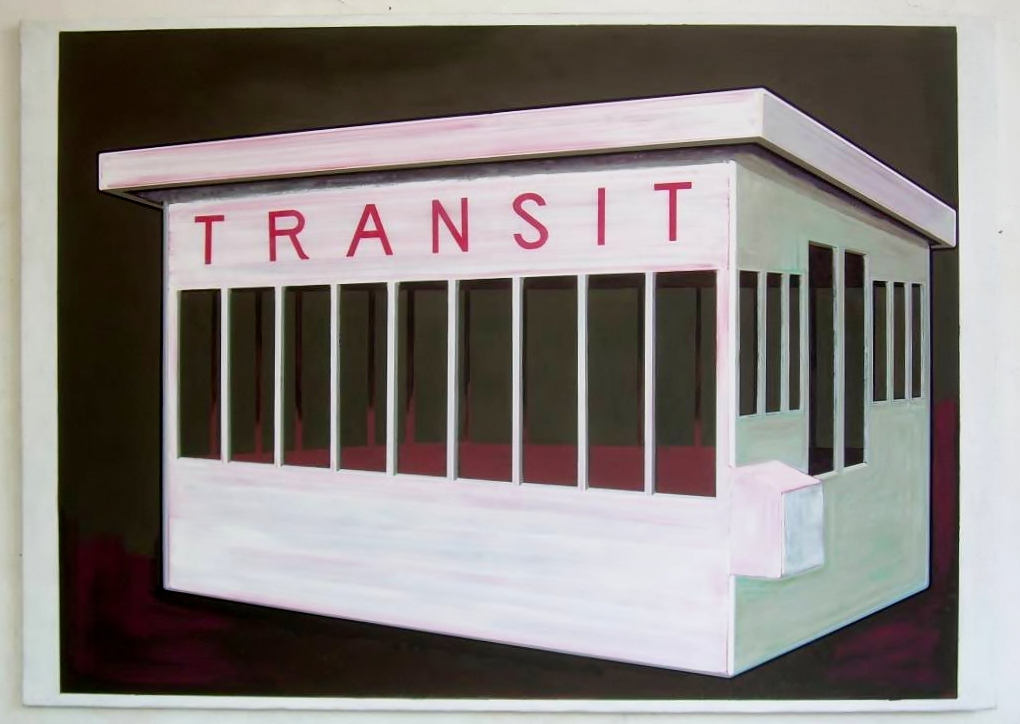 Transit Station, oil on canvas, 140 x 198 cm, 2009
