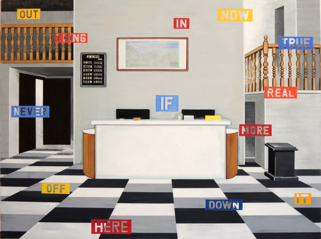 Chinese Lobby, oil on canvas, 150 x 200 cm, 2019