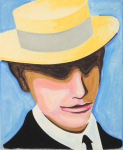 Kafka, oil on canvas, 55 x 45 cm, 2020